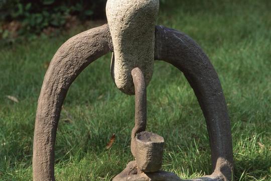 Z CYKLU NAŁOGOWCY, 1959, granit, aluminium