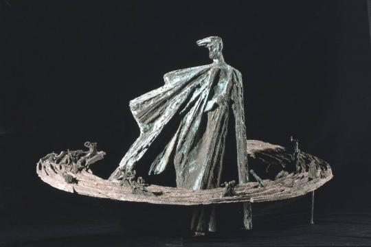 PROJEKT POMNIKA STANISŁAWA WYSPIAŃSKIEGO, 1981, brąz, aluminium