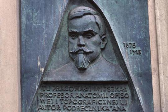 TABLICA POŚWIĘCONA ADAMOWI BOCHENKOWI, 1985, brąz, Kraków