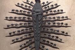 THE GOOD SHEPHERD, 1971, bronze, Rzepiennik Górny