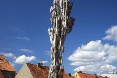 ATOMIC STALACTITE, 1987, granite, aluminium