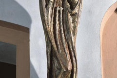 SCULPTURE OF THE BLESSED SIMON OF LIPNICA, 1978, polychromed wood, Nowy Sącz Zawada