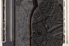 THE BRONZE DOOR REPRESENTING THE MARTYRDOM OF THE POLISH NATION DURING THE NAZI OCCUPATION, 1981, fragment