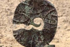 COSMIC TURMOIL, 1972, bronze