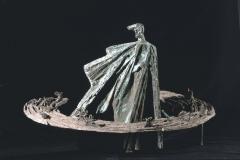 MAQUETTE OF THE STANISŁAW WYSPIAŃSKI MONUMENT, 1981, bronze, aluminium
