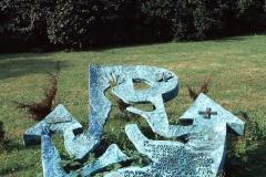 A SCULPTURE COMMEMORATING THE DEATH OF NARCYZ WIATR ('ZAWOJNA'), 1992, bronze, Cracow, Planty
