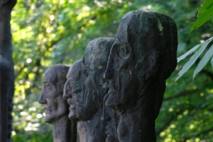 THE WALL OF DEATH, 1992, bronze, detail